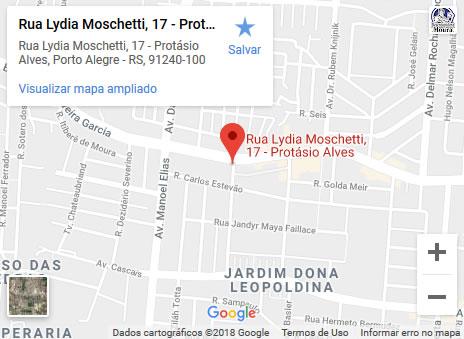 Desentupidora de Pia em Porto Alegre_mapa
